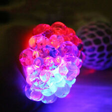 Kids/Adults LED Glowing Mesh Grape Ball ADHD Mood Toy Squeeze Stress Reliever