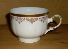 Mitterteich 1 Kaffeetasse, rosa  Blütendekor, dicker  Goldrand