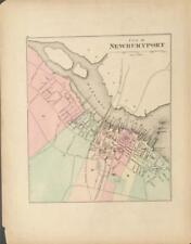 Antique Map Haverhill and Newburyport, MA - OW Gray Atlas of MA 1871