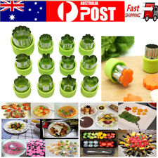 12Pcs Stainless Steel Mini Fruit Vegetable Cookie Shape Cutter Mould Food Mold
