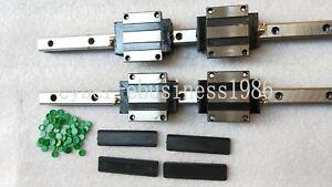 2 sets HSR15-1200mm Linear rail Guide  & 4 pcs HSR15CA block Carriage bearing