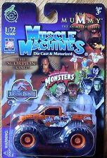 MUSCLE MACHINES The Mummy Scorpion King Monster Truck Mosc New 1:72