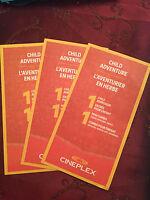 Cineplex Child Adventure Gift Certificate