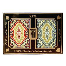 100 Plastic Acetate KEM Paisley Bridge/regular Playing Cards -2 Decks