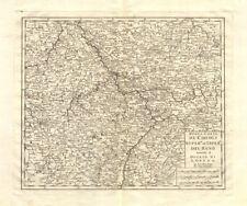 'Nuova Carta de Circolo … del Reno [&] ducato di Lorena'. Isaak TIRION 1740 map