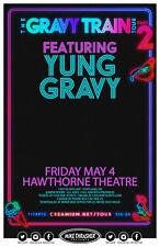 """YUNG GRAVY """"THE GRAVY TRAIN TOUR"""" 2018 PORTLAND CONCERT POSTER-Hip Hop,Rap Music"""