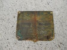 Oliver 70 Tractor Original Serial Number Tag 252062 Real Late 1945 Model