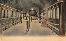 Aquarium Interior BELLE ISLE Detroit, Michigan 1908 Vintage Postcard