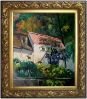 Framed Hand Painted Oil Painting Repro Paul Cezanne the House of Lacroix 20x24in