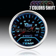 52mm 7 color shift Car Auto Exhaust Gas Temp Temperature EGT LED Gauge Universal