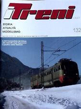 I Treni 132 1992 Locomotive E 332 Cenerentole del Trifase + Poster Loco E 332