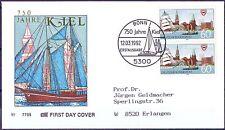BRD 1992: Kiel 750 Jahre! FDC Nr 1598 mit Bonner Sonderstempel! Gelaufen! 1812