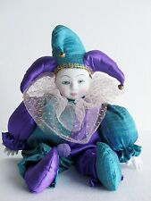 Set Of 2 Porcelain Jester Joker Royal Clown Collector design 2 ( SPECIAL PRICE )