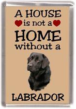 """Labrador Retriever Dog No 2 Fridge Magnet """"A HOUSE IS NOT A HOME"""" by Starprint"""