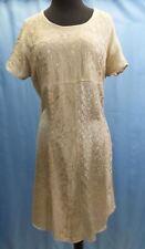 Women's Casual Dress Beige Plus Size Short Sleeve Summer Hippie Boho Sundress