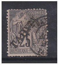 TAHITI - 1893,25c noir / Rose Tampon - F/U - SG 15