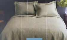 HOME Green King Quilt NWT
