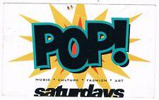 POP Rave Flyer Flyers A6 year unknown Melbourne Metro Nightclub Australia Rare