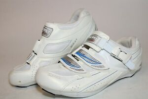 Shimano SPD-SL SH-WR41 Womens 38 6.5 White Road Bike 3-Bolt Indoor Cycling Shoes