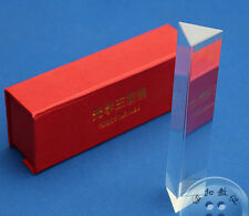 (US) 15cm Prisma Óptico Refractor Luz Spectrum Arcoiris Física Enseñar Cristal