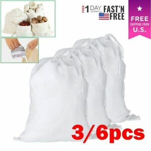 3/6x Reusable Fine Mesh   Nut Milk Cheese Cloth Bag Cold Brew Coffee Filter