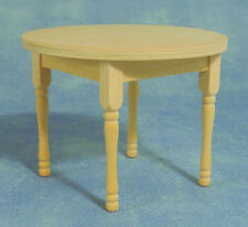 Dolls House Furniture:Natural Wood Circular Table