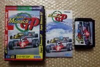 "Super Monaco GP ""Good Condition"" Sega Megadrive Japan Video Game"