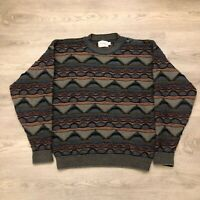 Vintage Essay Linda Larson Coogi Style Wool Blend Mens Pullover Sweater Size M