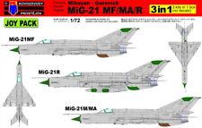 KOVOZAVODY PROSTEJOV 1/72 Mikoyan MiG-21 MF/MA/R Joy Pack (3 en 1-no decals) #