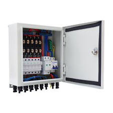 6 String PV Solar Combiner Box Circuit Breakers and Surge Lightning Protection