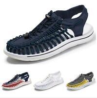 Casuals Shoes Men Sandals Roman Close Toe Beach Woven Slingbacks Sneaker Comfort