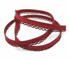 1meter Kantenband nähen Meterware beige dunkel Leinen Schrägband 18mm