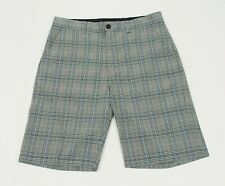 Travis Mathew Black Plaid Flat Tech Blend Golf Chino Shorts Mens 34