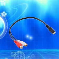3.5mm Stereo Female to 2 RCA Female Adapter Cable 3.5mm Audio Cable