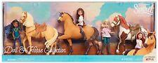 DreamWorks Spirit Riding Free 3 Dolls 3 Horse Collection 6 Piece Set  NIB