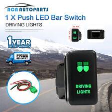 Push Switch For Toyota Landcruiser RAV4 Prado 150 200 Green ON OFF Driving Light