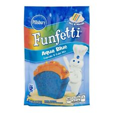 1 Pillsbury Funfetti Aqua Blue Cupcake & Cake Mix Party Baking Unicorn Rainbow
