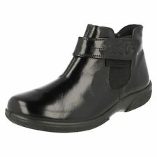 Zip Ankle Boots Wet look, Shiny Shoes for Women