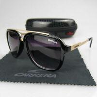 Fashion Men Women's Retro Sunglasses Unisex Matte Frame Carrera Glasses + Box LQ