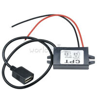 DC 12V to 5V 3A 15W Type A USB Output Power Adapter DC Converter Module