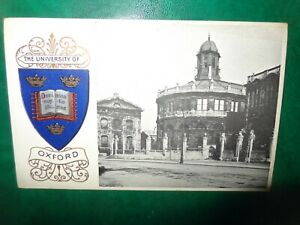Early embossed Heraldic postcard - Oxford University  #32 bodleian library