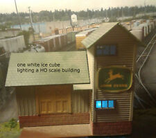 20 WHITE ICE CUBE LEDS FOR LIGHTING HO SCALE BUILDINGS