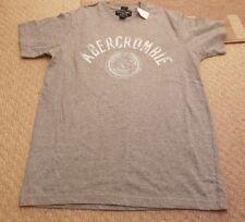 Mens gris Abercrombie and Fitch Camiseta Nuevo Tamaño pequeño músculo
