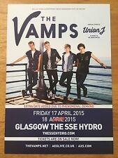 THE VAMPS - 1 x GLASGOW SSE HYDRO UK TOUR FLYER 17TH & 18TH APRIL 2015