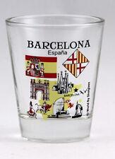 BARCELONA SPAIN GREAT SPANISH CITIES COLLECTION SHOT GLASS SHOTGLASS