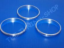 3x Anelli Alluminio Strumenti Calibri Anelli Cromati Per Alfa Romeo 156 98-02