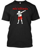 Hawaiian Santa Dabbing Mele Kalikimaka T For Christmas Hanes Tagless Tee T-Shirt