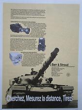 6/1983 PUB BARR & STROUD VISEE CHAR TANK CAMERA THERMIQUE CONDUITE TIR FRENCH AD