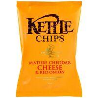 8x KETTLE CHIPS CHEDDAR CHEESE & RED ONION á 150g MHD:4/20