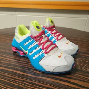 Nike Shox NZYouth GS White Volt Berry Teal Size 7Y Women's 8.5 310480 101 2013